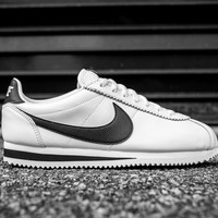 Best Deal Online NIKE CLASSIC CORTEZ LEATHER SE - SAIL/BLACK