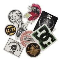 DC Shoes DC Mens Vinylocity Sticker Pack- 10 stickers Stickers