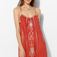 Staring At Stars Braided-Strap Embroidered Tank Dress - Urban Outfitters