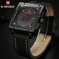 NAVIFORCE Genuine Leather Watch Men Luxury Brand Quartz Watch Analog Display Date military Watch Men Watches Relogio Feminino