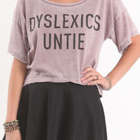 Local Celebrity Dyslexics Cropped Tee at PacSun.com