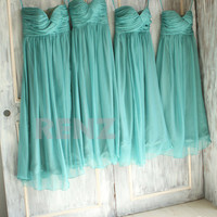 mix match style bridesmaid dresses / Romantic /teal blue / dresses /Fairy / Bridesmaid / Party dress/ TEAL JYS#06 dress/ Bride (B010)