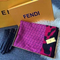 Perfect FENDI Woman Cashmere Scarf Shawl Silk Scarf