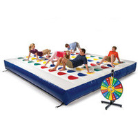 The Inflatable Outdoor Color Dot Game - Hammacher Schlemmer