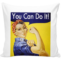 """""""You can do it"""" pillow"""