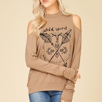 Wild Spirit Cold Shoulder Top