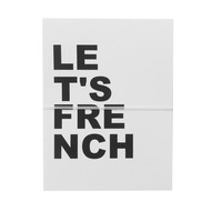 let's french note cards