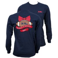 Southern Couture Mississippi Ole Miss Rebels Vintage Football Long Sleeve T-Shirt