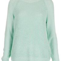 Mix Knit Slouchy Jumper - Knitwear  - Clothing
