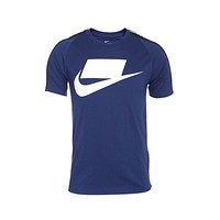Nike Men's Sportswear NSW Logo Blue Void White T-Shirt