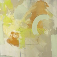 """Nick Brock Antiques - Current Inventory: """"Resonance"""" abstract painting by Paul Ashby 2012"""