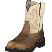 Women's Ariat Boots Fatbaby Earth/Bone Fashion Cowgirl Boots