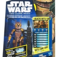 Star Wars 2011 Clone Wars Animated Action Figure CW No. 38 Clone Commander Jet