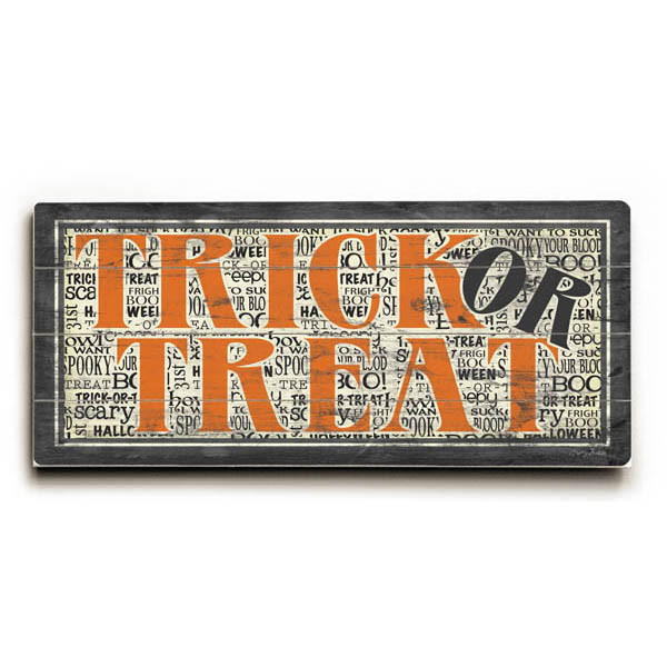 Image of Trick or Treat by Artist Misty Diller Wood Sign