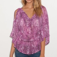 Amazon.com: G by GUESS Arianna Printed Top: Clothing
