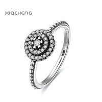 2017 New 925 Sterling Silver Clear CZ Ring Compatible with Pandora Rings Fashion Jewelry For Women Wedding Rings R104