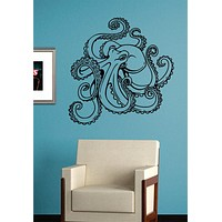 Octopus Version 4 Design Animal Decal Sticker Wall Vinyl Decor Art