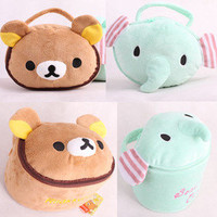 San-X Rilakkuma Bear Elephant Plush Cosmetic case Storage box accessory 1pcs
