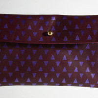 FALCONWRIGHT ? Plum Leather Wallet Pouch 1, 2 & 3