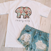 White Mosaic Short Sleeve