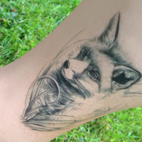 Fox Temporary Tattoo - Fox - Temporary Tattoo - Wildlife Tattoo