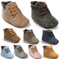 Brand ROMIRUS Winter Outdoor PU Leather Baby moccasins Shoes infant anti-slip first walker soft soled Newborn Baby boy Boots
