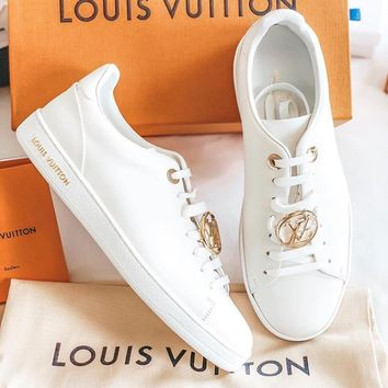 LOUIS VUITTON LV Small white shoes