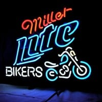 Miller Lite Bicycle Neon Sign