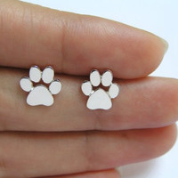 New Fashion Cute Paw Print Earrings for Women Cat and Dog Paw Stud Earrings E124