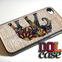 Elephant art on old dictionary personalized i Phone case water proof iPhone Case Cover|iPhone 4s|iPhone 5s|iPhone 5c|iPhone 6|iPhone 6 Plus|Free Shipping| Consta 537