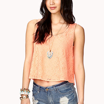 Boxy Floral Lace Top
