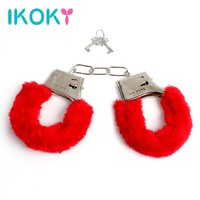 IKOKY Furry Soft Metal Handcuffs New Handcuffs Chastity SM Bondage Night Party Role-playing
