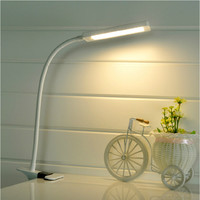LED Clip Light Type Desk Clamp Lamp Dimming Reading eye Table Lights Dimmable 2 Lighting Colors