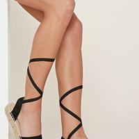 Faux Suede Lace-Up Espadrilles | Forever 21 - 2000177099