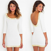 NWT NASTY GAL ASOS GOLD RUSH DRESS SMALL S