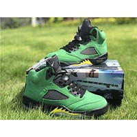 "Air Jordan 5 ""Oregon Ducks"" sneakers basketball shoes"
