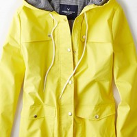 AEO Women's Spring Raincoat (Yellow)