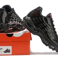 DCCK Nike Air Max 95 Fashion Running Sneakers Sport Shoes Black
