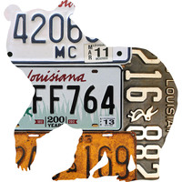 Louisiana License Plate Black Bear