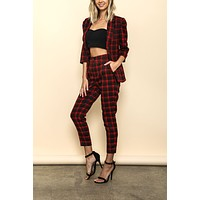 Checkmate Plaid 2-Piece Set