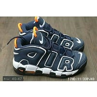 Nike Air More Uptempo trendy men and women large AIR Sneakers F-HAOXIE-ADXJ Blue