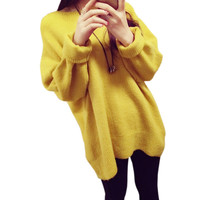 2016 Women Sweaters and Pullovers Korean Winter Sweater Pullovers Jumpers Burderry Pull Femme O-neck Loose Knitted Sweater
