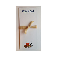 Sports Notepad Dad Stationery Dad Football Dad Baseball Dad Basketball Soccer Stationery Gift for Dad Gift for Him