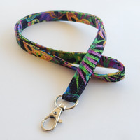 Mardi Gras Lanyard / Masks / Carnival Keychain / Masquerade Masks / Key Lanyard / ID Badge Holder / Cute Lanyards