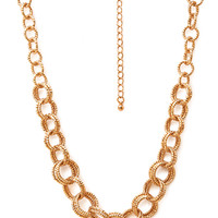 FOREVER 21 Favorite Double Chain-Link Necklace Gold One