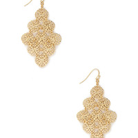 FOREVER 21 Filigree Drop Earrings Gold One