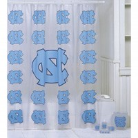 Championship Home Accessories North Carolina Tar Heels 7pc Bath Set - 8303 - Shower Curtains - Shower Curtains & Accessories - Bed & Bath