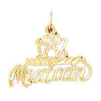 14K GOLD SAYING CHARM - 100% MEXICAN #10458