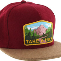 Skate Mental Take A Hike Hat Adjustable burgundy Wool