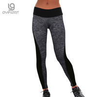 Women's Fitness Leggings Workout Pants Panelled Ladies High Waist Leggins Quick-drying Wear Trousers
